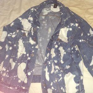 Denim jacket xs in men's m/l women's